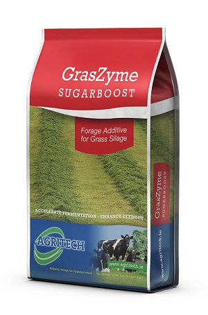 Agritech GrasZyme SugarBoost forage additive for grass silage